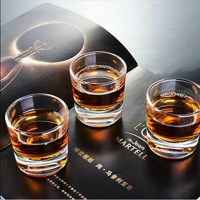 Set of 4 Crystal Double Old Fashioned Glasses Whiskey Tumblers Shot Glass E