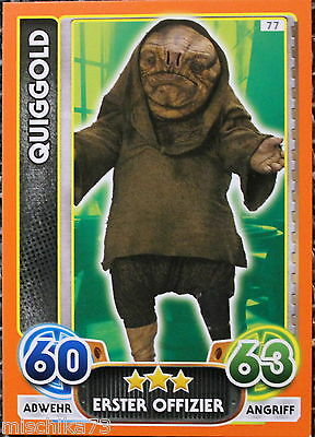 Topps Star Wars- Force Attax Extra Karte Nr.77 Quiggold - Erster Offizier