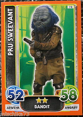 Topps Star Wars- Force Attax Extra Karte Nr.78 Pru Sweevant - Bandit