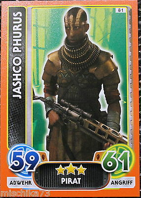 Topps Star Wars- Force Attax Extra Karte Nr.81 Jashco Phurus - Pirat
