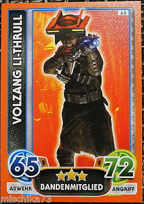 Topps Star Wars- Force Attax Extra Karte Nr.68 Volzang Li - Thrull