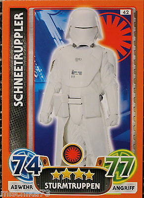 Topps Star Wars- Force Attax Extra Karte Nr.42 Schneetruppler