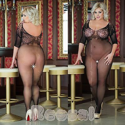 █▬█ █ ▀█▀ Plus Size ✔ Netz Body✔ Schritt offen✔ Catsuits Body Stocking✔ XL-XXXL