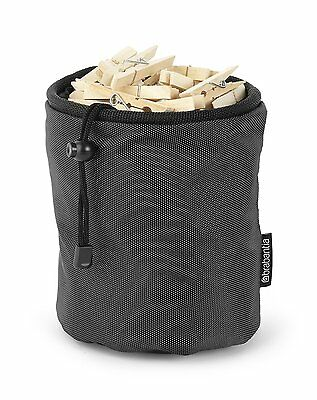Brabantia Premium Washing Clothes Peg Holder Bag, Black
