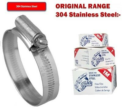 Stainless Steel Jubilee Clips A2 Genuine Hose Clips Fuel Hose Clamp Worm Drive
