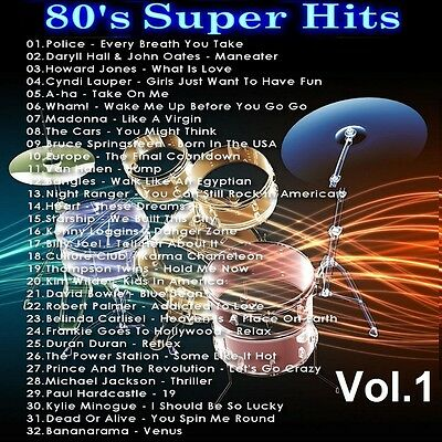 Oldies Promo Music Compilation DVD, 80s Super Hits Vol1  Remastered Only on Ebay