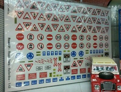 O 0 Gauge 1:43 Scale Contemporary Modern Road Signs Furniture Accessories