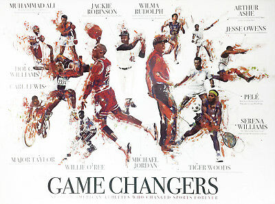 African American Sports Athletes Poster Black History Wall Art Print (18x24)