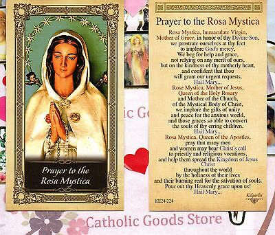 Prayer to the Rosa Mystica, Immaculate Virgin - Glossy Paperstock  Holy Card