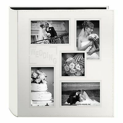 """Pioneer Collage Frame Embossed """"Wedding"""" Sewn Leatherette Cover Photo Album I..."""