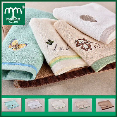 5 x Soft Cotton Organic Baby Face Washer Wipes BURPY BIB Cartoon Cute Towels New