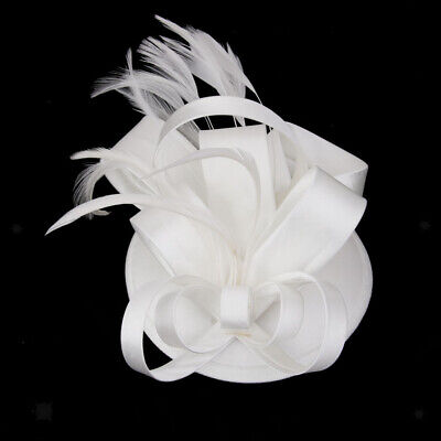 Women Feather Flower Hair Clip Small Mini Top Hat Fascinator Ascot Race Party