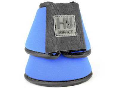 HyIMPACT Neoprene Over Reach Boots - BLUE - Hacking, Schooling Horse Boots