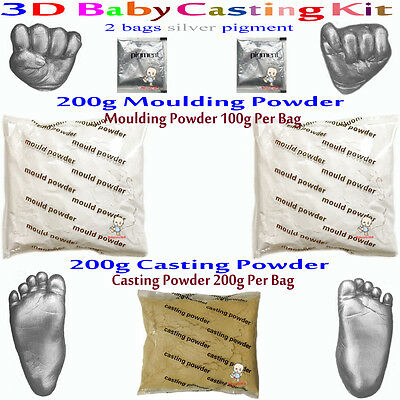 3D Casting Kit Creates up to four Castings Suitable for infants 0-6mths silver