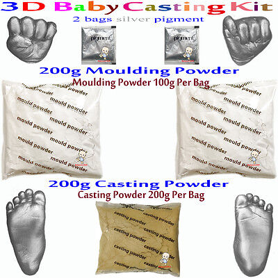 3D Casting Kit Creates up to four Castings.Suitable for infants 0-6mths silver