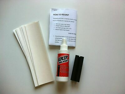 Golf Club Regrip Re-Grip Kit-,tape, Grip Solvent,vise Clamp, & Instruction
