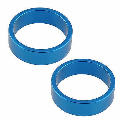 2pcs Blue Alumnium Alloy Headset Stem Spacers Gasket Washer for Bicycle Parts