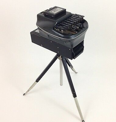 Vintage Stenograph Court Reporting Machine Cat Writer w/ Deluxe Tripod