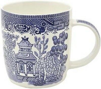 Set Of 6 Mugs Churchill Willow Blue Tea Coffee Milk Dinnerware Kitchen Office