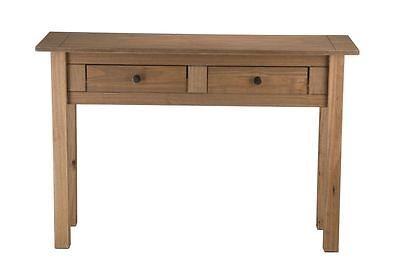 Santiago 2 drawer console table distressed waxed pine