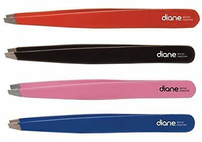 "Diane #9181 SLANT TIP 4"" LONG TWEEZER (red)"