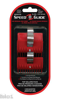 """Speed-O-Guide Universal Clipper Comb 3-PK SIZE 000 - 1/32"""" Fits ANDIS OSTER WAHL"""