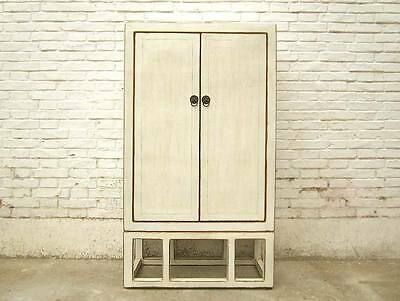 Asia Classic Tall Chest double door paint antique white timber