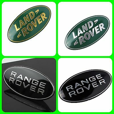 Range Rover Sport Supercharged Emblem Black Land Rover Oval Logo Badge Sticker