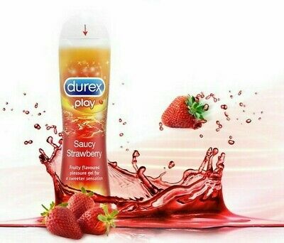 Durex play fresa strawberry gel lubricante 50ml apto preservativos condones