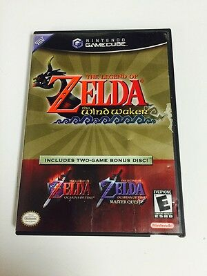 Legend of Zelda The Wind Waker Plus Ocarina of Time/Master Quest Disc Gamecube