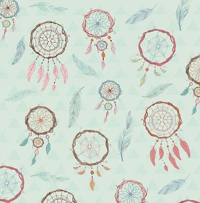 Dream Catchers Blue Background Cotton Quilting Fabric 1/2 YARD