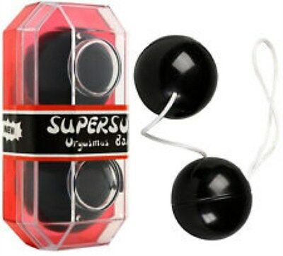 SUPERSOFT bolas chinas terapéuticas color negro con cordel geisha kegel