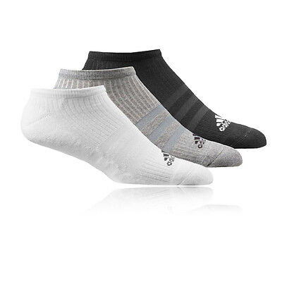 Adidas 3 Stripe Performance No Show HC Mens Womens Running Anklet Socks 3 Pack