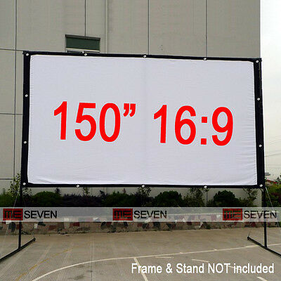 "150"" 16:9 Portable Projection Screen Film for Home Theater 3D LED DLP Projectors"