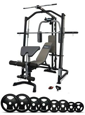 Smith Machine / Home Gym Linear Bearing , FID Weight Bench & 75 KG Weight Plates