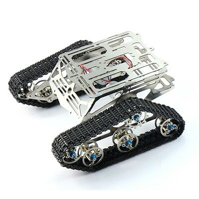 Robot Chassis Track Arduino Tank Chassis Wali w/ Motor Stainless Stee F17340