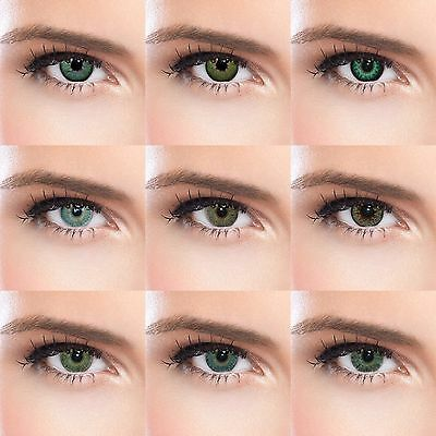 Natural looking green colored contacts with or without power cosplay big eye