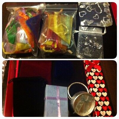 Bulk lot of Jewellery bags and boxes