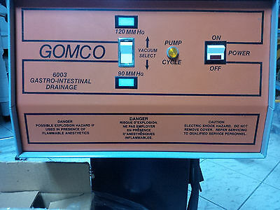 GOMCO Model 6003 Suction Apparatus Surgical