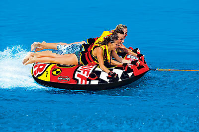 Sportsstuff Frequent Flyer Towable Inflatable Water Ski Deck Tube 1-3 rider