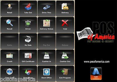 Aldelo POS Software for Restaurant Bar Pizza Bakery 3 stations Lite Edition NEW