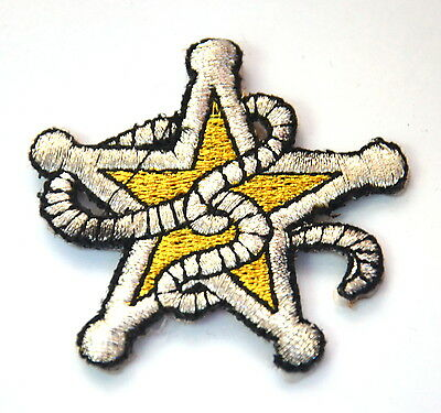 SHERIFF STAR DEPUTY COWBOY Embroidered Iron Sew On Cloth Patch Badge  APPLIQUE