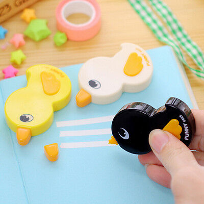10pcs Duck Shape Correction Tape Stationery Office School Children Prize Gifts