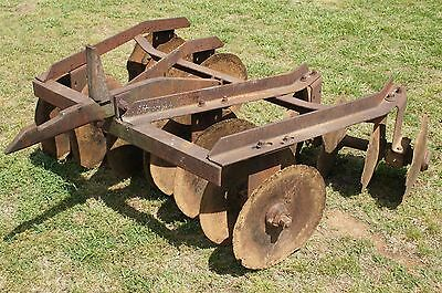 Farmall Disc Harrow Plow 1pt 1 Point Fast Hitch Farmall IH Super A 100 140 Disk