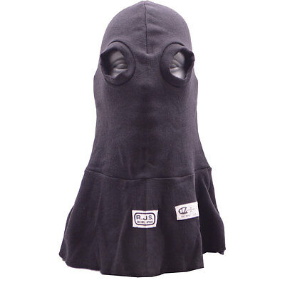 Rjs Racing Equipment Sfi 3.3 Eye Hole Head Sock Hood Black Single Layer