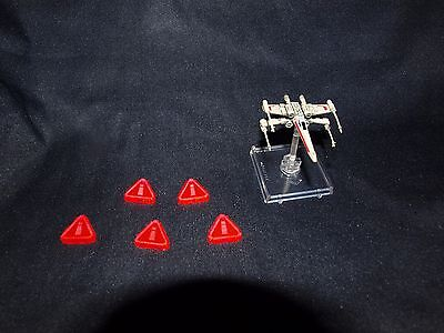 Star Wars X Wing Miniatures Token x5 Pink Tension Tokens Stress