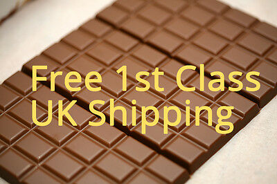 STEVIA Chocolate Bar NO ADDED SUGAR -Free UK SHIPPING low calorie carb diabetic