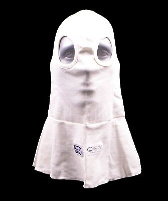 Rjs Racing Equipment Sfi 3.3 Eye Hole Head Sock Hood White Single Layer