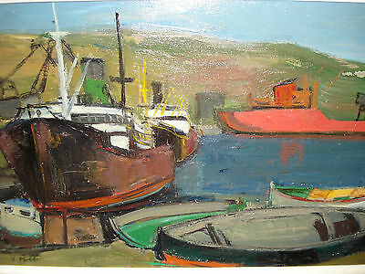 Verene Mettler-Wittmann (1914-1978): Ships and Boats In The Port