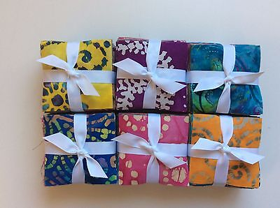 "170 Assorted BATIK pre cut charm pack 3 1/2"" squares treat fabric quilt"